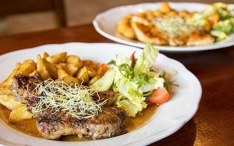 300g steaky dle výběru a příloha pro 2 nebo 4 osoby