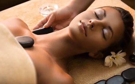 Relaxační masáž pro dámy a zábal lávovými kameny