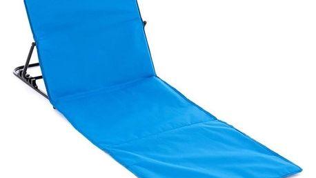 Garthen Nastavitelná plážová podložka s opěrkou - modrá