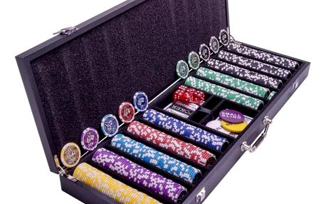Garthen Pokerový set s kufříkem - 500 žetonů