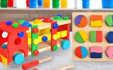 Dřevěné hračky pro rozvoj motoriky i logického myšlení