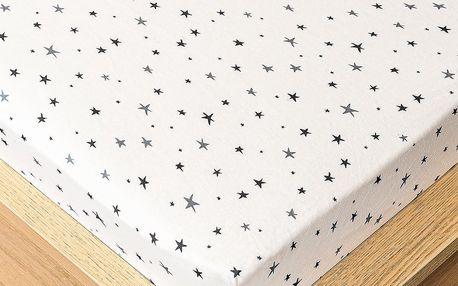 Trade Concept Jersey prostěradlo hvězdičky , 160 x 200 cm