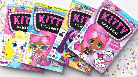 Kitty - Kočičí holky: Zábavný sešit se samolepkami