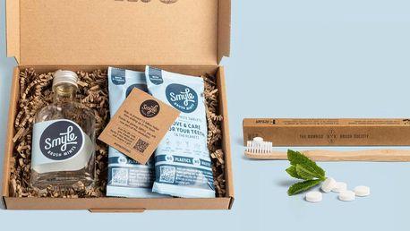 Zubní pasta v tabletě i bambusový kartáček
