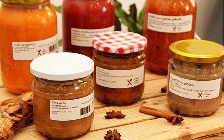 Domácí polévky i hlavní jídla zavařená ve sklenici