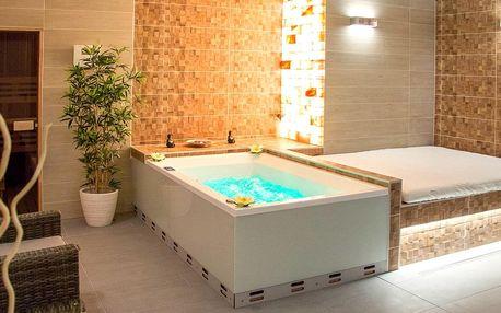 Relaxace v privátním SPA wellness: sauna i vířivka