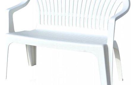 Tradgard DIVA Plastová lavice - bílá, 114 x 82 x 55 cm