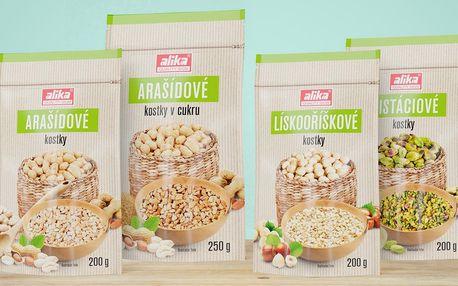 Kostky z arašídů, pistácií i lískových ořechů