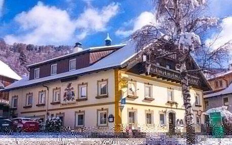 Rakousko: Pobyt u ski areálů ve slovenském Penzionu Gasthof Mentenwirt s chutnou polopenzí a slevovou kartou