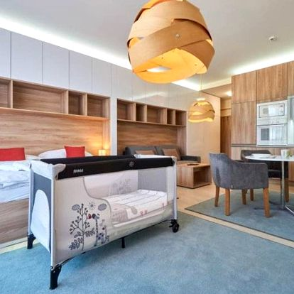 Relax dovolená v luxusních apartmánech v hotelu u pozemní lanovce na Hrebienok