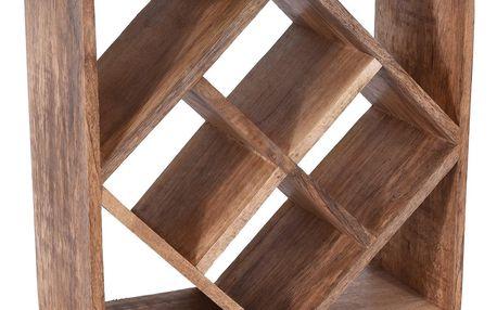 Dřevěný stojan na víno 33 x 33 x 15 cm