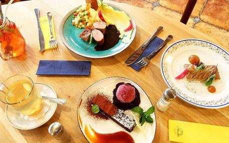 3chodové degustační menu U Machů pro 1 i 2 osoby
