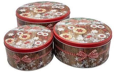 Vánoční 3dílná sada dóz na cukroví Linecké