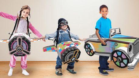 Obří papírové skládačky pro děti: letadlo či auto