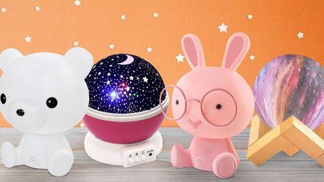 Projektor hvězdné oblohy, budík či svítící glóbus