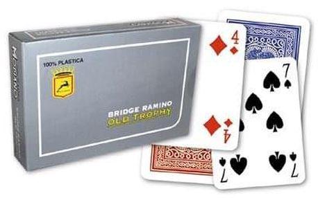 Modiano RAMINO OLD TROPHY MOTO 31309 100% plastové karty 4 rohy