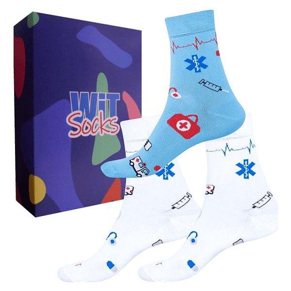 Dárkový set ponožek - Zdravotnictví nízké mix   Velikost: 35-382