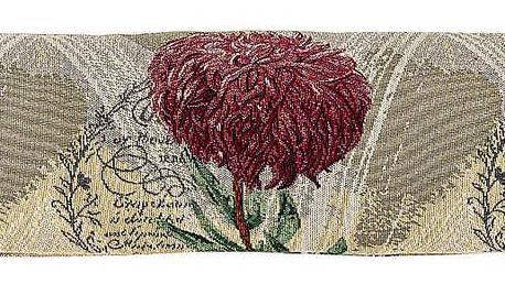 Boma Trading Ozdobný těsnicí polštář do oken Chryzantéma fialová, 90 x 20 cm