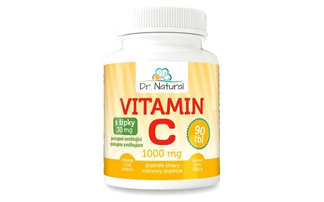 Dr.Natural Vitamín C s šípky 1000 mg, 90 tbl.
