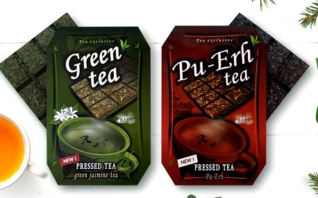 Čínské lisované čaje: černý Pu-Erh a jasmínový