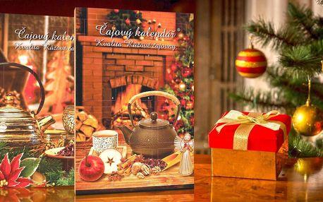 Adventní kalendáře s porcovanými čaji v okýnkách