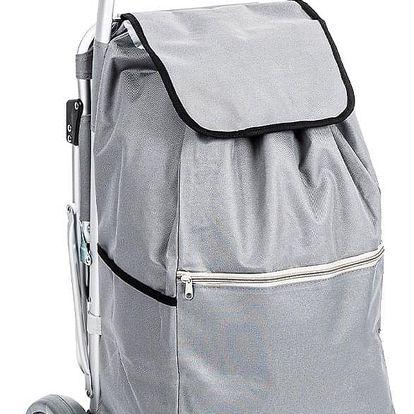Aldo Nákupní taška na kolečkách se sedátkem Comfort, šedá