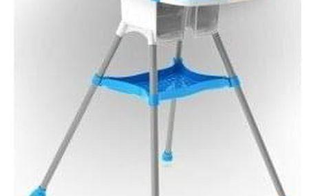 DOLONI Dětská jídelní židlička bílo-modrá