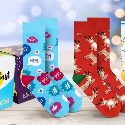 Ponožky s veselými vzory i v dárkových boxech