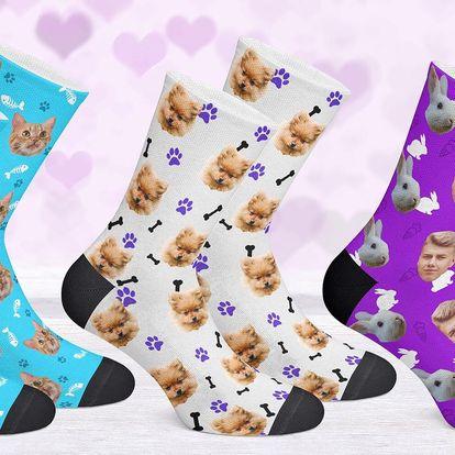 PupSocks: ponožky s fotkou psa, kočky či manžela