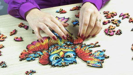 Nádherné dřevěné puzzle v dárkovém balení