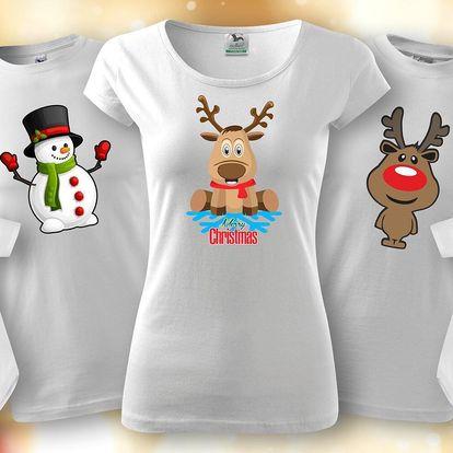 Bavlněná trička s vánočními motivy pro celou rodinu