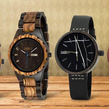 Originální dřevěné hodinky TimeWood pro pány i dámy