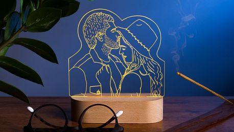 Stolní lampy s vlastním textem či fotografií
