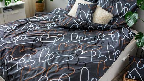 Jahu Bavlněné povlečení Love, 140 x 200 cm, 70 x 90 cm, 40 x 40 cm