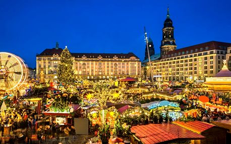 Busem do Drážďan: adventní nákupy i prohlídka města
