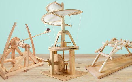 Dřevěné stavebnice inspirované da Vinciho vynálezy