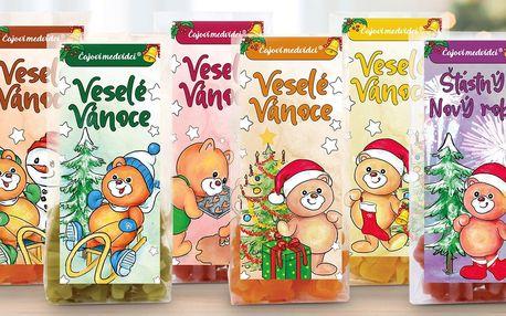 Vánoční balení čajových medvídků s ovocnou příchutí