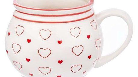 Orion Keramický hrnek Krajáč 450 ml, malá Srdce