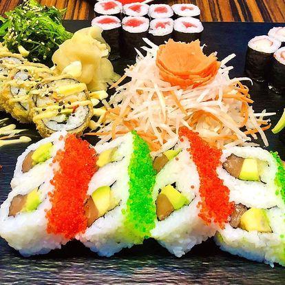 Nabité sushi sety: až 52 ks, avokádo, krevety i krab