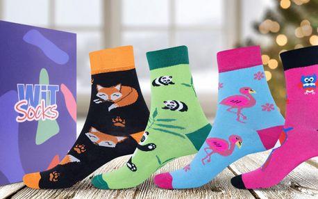 Dárkové sety ponožek s motivy zvířátek: 14 variant