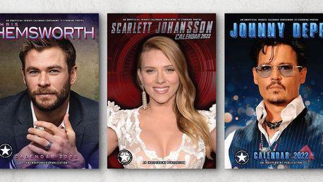 Kalendáře na rok 2022: Depp, Hemsworth, Monroe ad.
