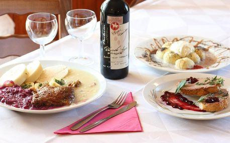 Rozvoz 3chodového svatomartinského menu pro dva