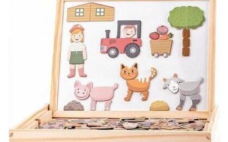 Woody Magnetická oboustranná tabulka se zvířátky, 33 x 25 x 3,2 cm