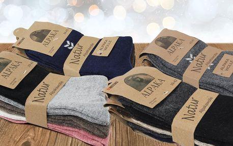 Trojbalení pánských a dámských ponožek Alpaka