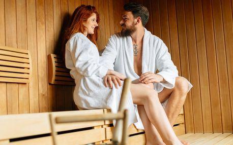 Privátní vstup do sauny i nápoj a dezert pro dva