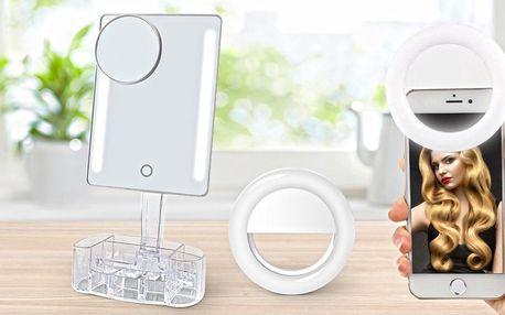 Dokonalé líčení a fotky: LED zrcátko i Selfie Ring