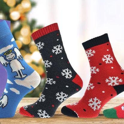 Dárková balení vánočních ponožek: nízké i termo