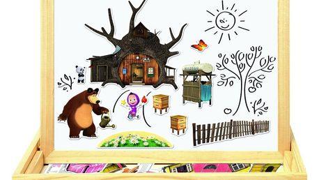 Bino Magnetická tabulka Máša a medvěd, 31 x 23,5 x 3,5 cm
