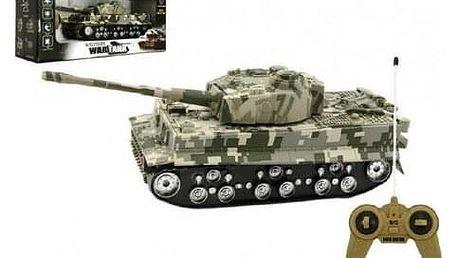 Teddies Tank na baterie se zvukem a světlem Tiger, 25 cm