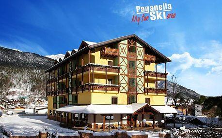 Hotel Dal Bon - 5denní lyžařský balíček se skipasem a dopravou v ceně, Paganella